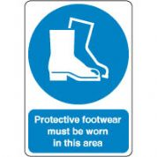 Mandatory Safety Sign - Protective Footwear 125